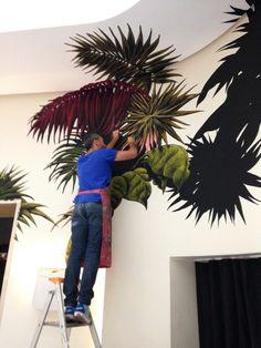 Julien Colombier fresques au pastel gras .France