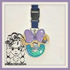 Mermaid Princess ~ Pin Lanyard Display Mouse HeaD Trader ~ ITH Mr Miss Mouse Inspired Photo Prop ~ INSTANT Download Design by Carrie aStitchForYou on FB & Etsy