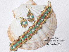 Beaded Bracelet SuperDuo BraceletSouthwest by mybeads4you on Etsy
