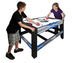 "<p>The Vortex 54"" 4 in 1 swivel table by Triumph Sports USA is the ideal table game entertainment for the entire family.    With 4 games to choose from, the action never stops.   The 54"" Vortex table features a rotating swivel design that allows you to quickly change games from billiards to real air powered hockey.   Simply unlock, flip the table, lock back into place and you're ready to go.   Pull out the game board from the convenient storage and you have instant access to table tennis…"