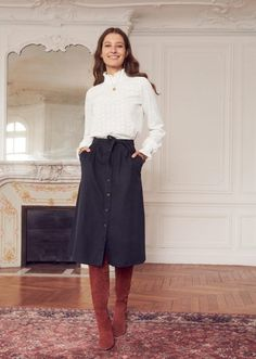 Outfits * Moda in ufficio: Autunno outfits - Outfit Invernali Fashion Mode, Work Fashion, Modest Fashion, Teen Fashion, Fashion Outfits, Womens Fashion, Fashion Trends, Ladies Fashion, Fashion 2016