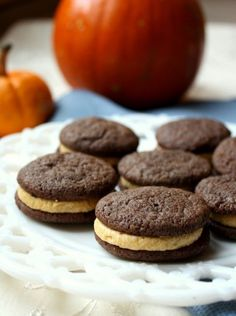 Chocolate Sandwich Cookies with Pumpkin Spice Buttercream - An ultimate fall treat!     Chocolate With Grace