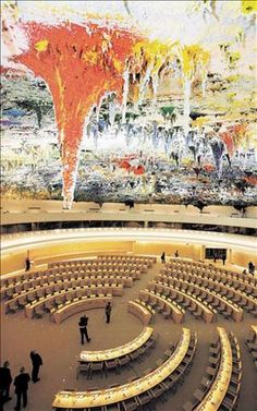 Miquel Barceló. Palacio de Naciones Unidas (ONU) de Ginebra. Cúpula de la Sala…