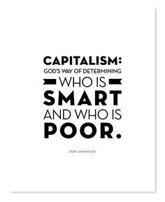 Ron Swanson Capitalism Typography Quote Print