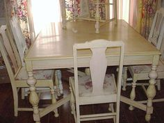 Vintage Dining Room Table Repainted Vintage by SimplyCottageChic, $450.00