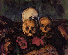 Three Skulls on a Patterned Carpet - Paul Cézanne - The Athenaeum