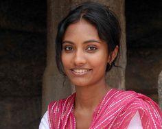 A beautiful Indian girl in Mahabalipuram, India.