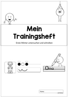 New Training Booklet: Examining and Writing First Words The next exercise book is ready. The material deals with the . Early Intervention Program, Mental Development, Exercise Book, Cycle 2, Kids Behavior, Educational Programs, Special Education Teacher, Primary School, First Grade