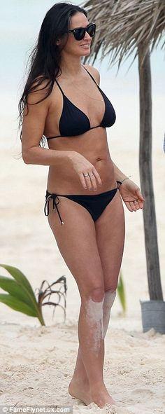 Flawless: Demi's figure is still as impressive as it was twenty year ago.. Wow!!
