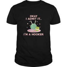 FUNNY Crochet T-SHIRT I'm A Hooker Crocheting Yarn Gift