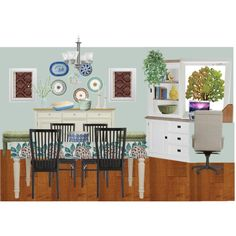 Leslie's dining room buffet wall update