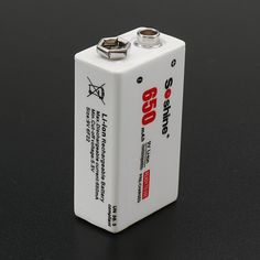 Soshine 9V 650mAh 7.4V Li-po Rechargeable Battery with Storage Case