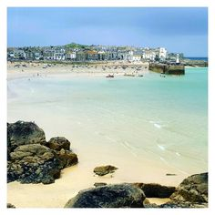 St. Ives on a beautiful day ... my favourite view in all the world across the harbour beach