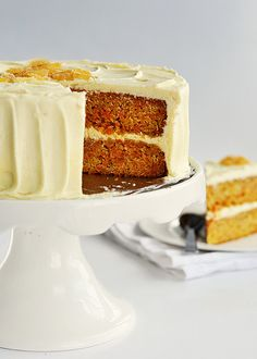 Zingy Orange Ginger Carrot Cake with White Chocolate Icing 2 by Sweetapolita, via Flickr
