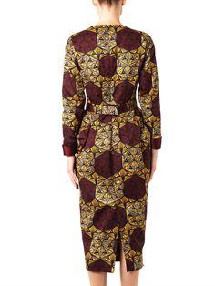 Stella Jean Katerina printed long-sleeved dress back