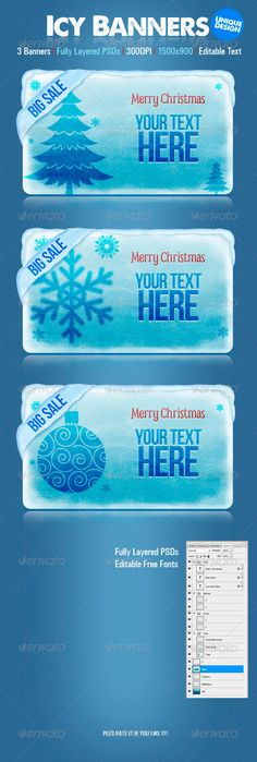Icy Web Banners Template PSD | Buy and Download: http://graphicriver.net/item/icy-banners/3331822?WT.ac=category_thumb&WT.z_author=creativeartx&ref=ksioks