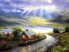 By Thomas Kinkade...wish I could paint