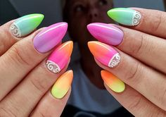 We love colors! 💜 by Angelika Wróbel, Indigo Young Team #ombre #neon #summer…