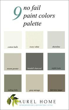 9 no fail paint colors palette