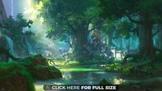 scenery anime forest free4kwallpapers fantasy