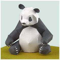 Printable 3D Panda