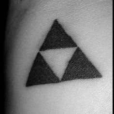 Made a triforce today  #zelda #zeldatattoo #triforce #triforcetattoo #blackwork #apprentice #apprenticetattoo