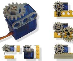Servo-motor adapted to Lego