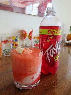 Faygo red pop float w/French Vanilla Ice Cream brings back memories of Michigan summers