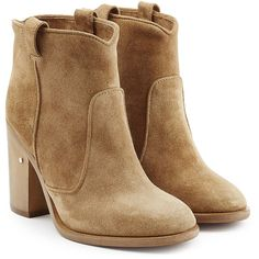 Laurence Dacade Suede Ankle Boots (6,030 HKD) ❤ liked on Polyvore featuring shoes, boots, ankle booties, botas, beige, bootie boots, suede bootie, suede booties, beige booties и beige suede booties