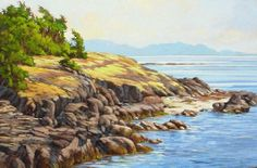 Cliffs at Helliwell, Hornby Island Amanda Jones, Community Art, Marine Life, Scenery, Boat, Canada, Island, Landscape, Water