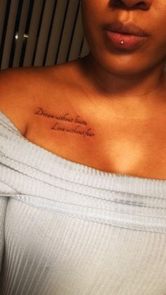 Ashley piercing chest tattoo