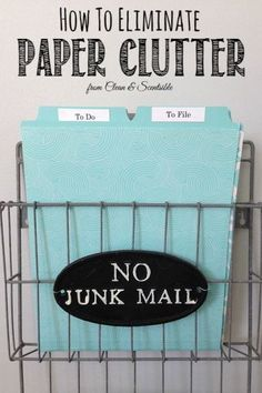 Great tips to tackle that paper clutter once and for all! // cleanandscentsible.com