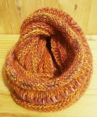 Cassio Cowl Scarf; infinity scarf; hand knitted: wool, nylon, kid mohair & silk £37.49