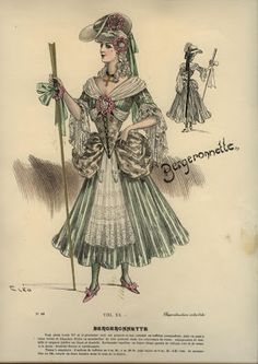 Inspiration for Victoria's French Ball costume. Isis' Wardrobe: Late 19th century masquerade costumes