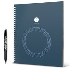 rocketbook wave notebook. upload through app. erase in microwave (only when pilot frixion pens used)