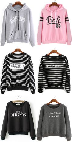 Welcome to shein shop! There are various slogan tee and sweatshirts.