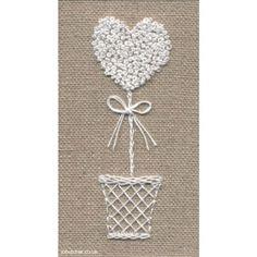 White Topiary Heart