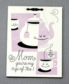 Not to toot our own horn, but how ridiculously cute is this mother's day card?  Esther Aarts for Hello!Lucky