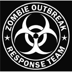 Zombie Outbreak Response Team Die-Cut Decal – White 5.00″ Round. The picture on this listings shows the white that represents the vinyl and the black represents the background you are installing on. These decals are made to last 8-10 years with hi performance vinyl Included are instructions for mounting the decal on any smooth surface.
