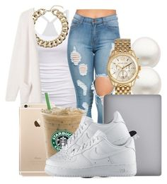 @Starbucks by honey-cocaine1972 ❤ liked on Polyvore featuring Reeds Jewelers, American Eagle Outfitters, Michael Kors, Topshop, Monki and NIKE