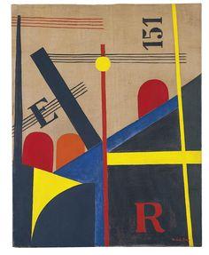 László Moholy-Nagy  Gran pintura del ferrocarril  1920  Óleo sobre lienzo. 100 x 77 cm  Museo Thyssen-Bornemisza, Madrid  Nº INV. 675 (1974.41)
