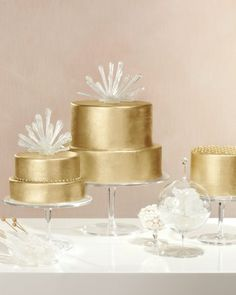 Gold Wedding Cake - Add Alcohol (Really!)