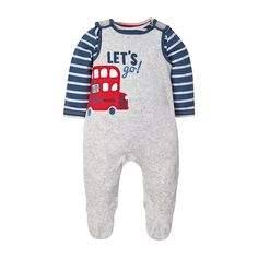 Knitted Stripe All In One - all in ones - Mothercare