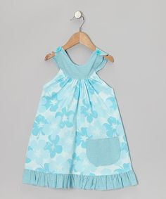 Take a look at this Blue Hibiscus Trapeze Dress - Toddler & Girls by Beary Basics on #zulily today!