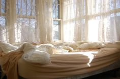 #bed #window #pillow #white