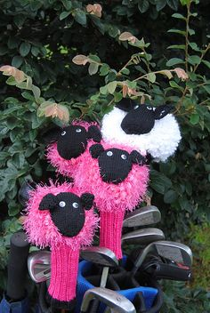 Ravelry: sheep Golf Club Cover pattern by Alison Kenny