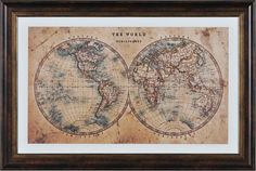 Ren-Wil World Hemispheres Framed Painting