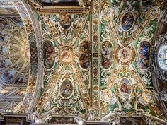 to the overwhelming ceiling detail in the Basilica di Santa Maria Maggiore in Northern Italy. Santa Maria Maggiore, Ceiling Detail, Northern Italy, Tree Toppers, Travel Photos, Bohemian Rug, Photo And Video, Instagram Posts, Travel Pictures