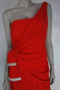 2062d259be6 Valentino 1980s Red Silk Gown
