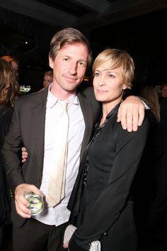Robin Wright and Spike Jonze at event of O Homem Que Mudou o Jogo (2011)